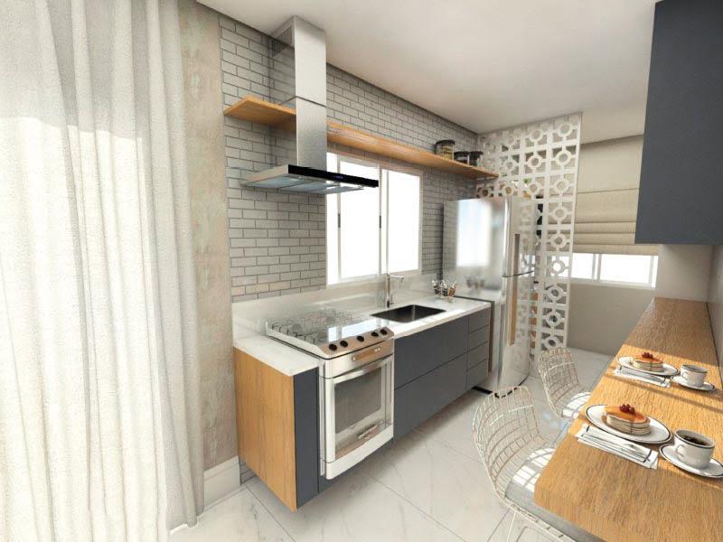 cozinha residencial bossa nova